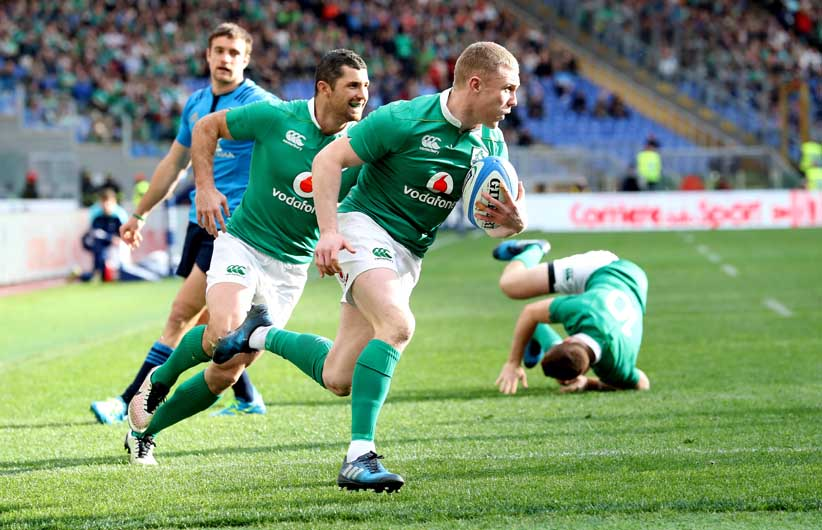 Keith Earls went in for a brace. ©INPHO/Billy Stickland