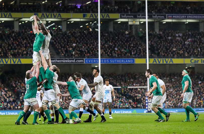 Back the starting XV, Munster captain Peter O'Mahony was immense at lineout time in the win over England, putting in a Man of the Match performance. ©INPHO/James Crombie
