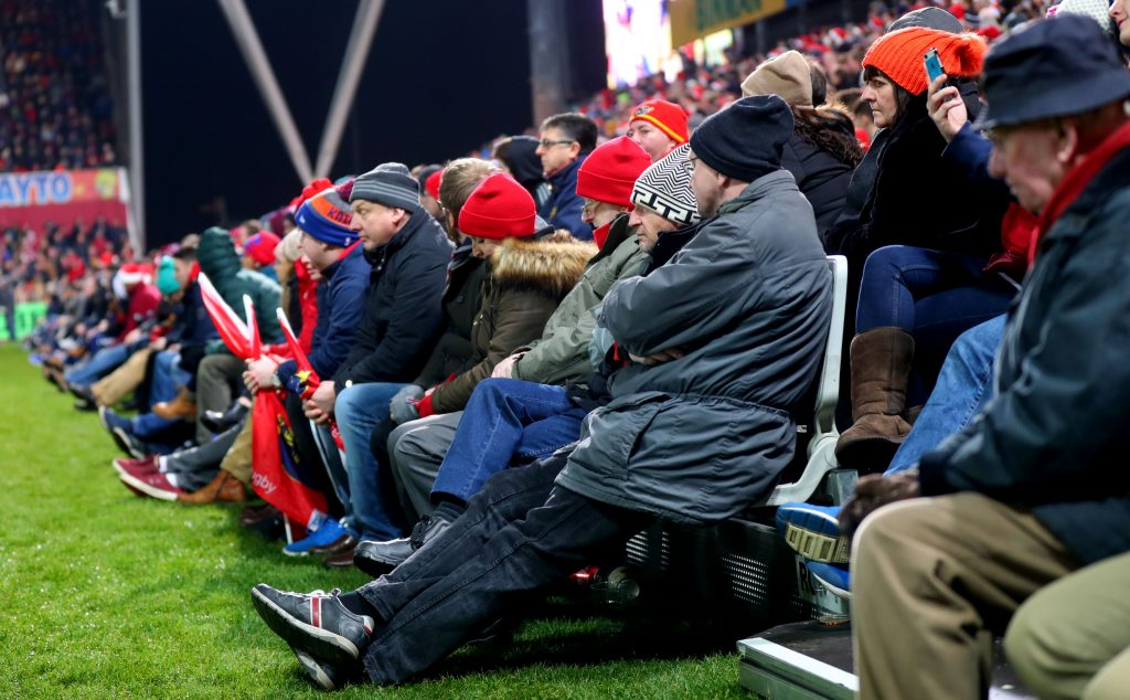 Additional seating will be in place at Thomond park for the next two games, increasing the capacity to 26,267.