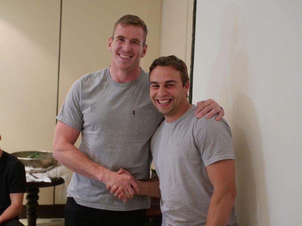 Chris Farrell and James Hart.