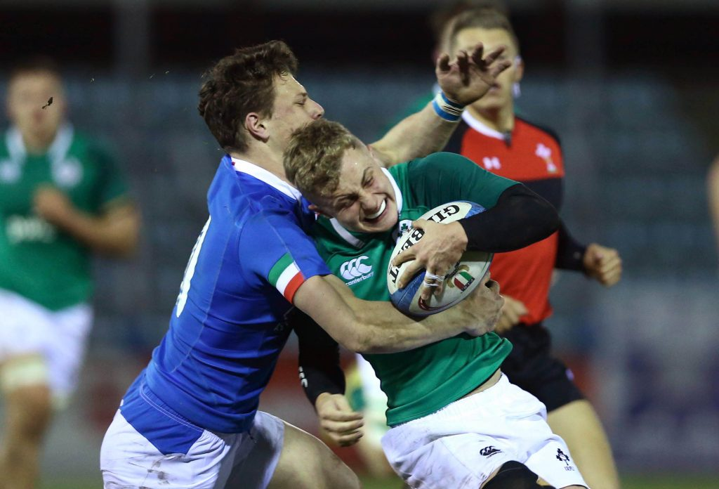 Craig Casey in action for the Ireland U20s against Italy in February.