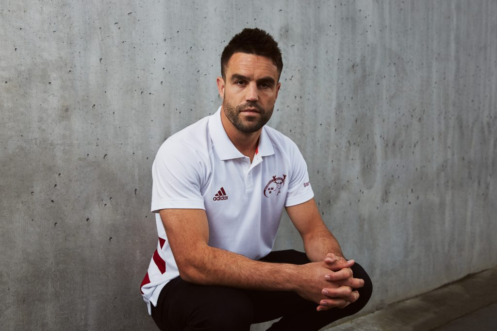 Conor Murray in the new polo t-shirt.